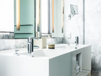 Boost your home value by eeping your bathroom spotless clean.