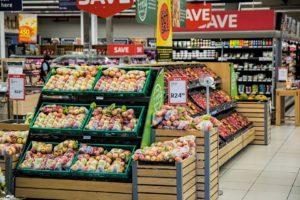 A supermarket scene
