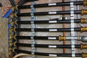 Water pipes ready to be checked to prepare your new home for moving in.