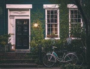 House and bicycle