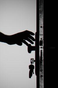 Changing locks in the dark.