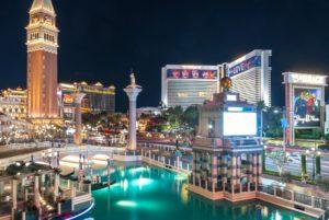 A lot of buildings in Las Vegas.