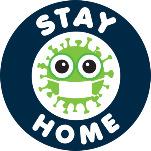 A sign telling you to stay at home when buying a home in Las Vegas during coronavirus outbreak.