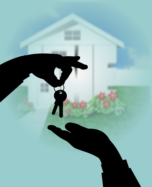 Giving keys after buying your first home in Bayonne.