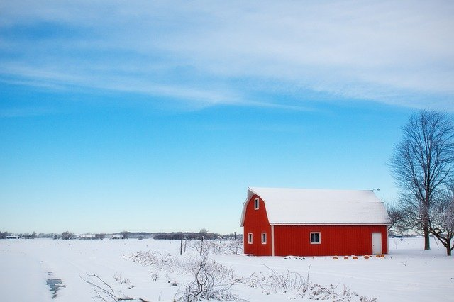 Buying a rural property during winter.