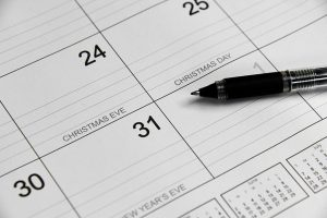 A calendar for impeccable organization when moving from Seattle to Colorado.