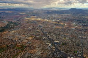 Las Vegas from the air.