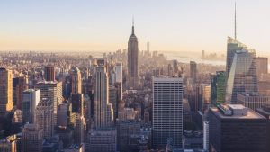 The skyline of NYC.