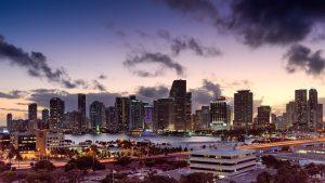 Miami city view.