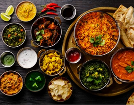 Delicious Indian food.