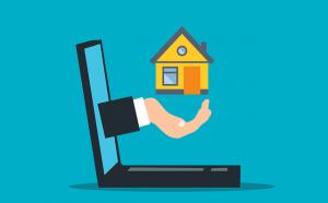 Real estate market listings.