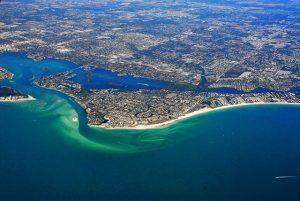 Sarasota, aerial view.