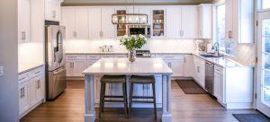 Clean apartment kitchen